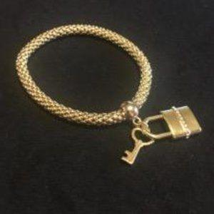 Bracelet with lock and key